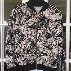 Lauren by Ralph Lauren Track Bomber Jacket Palm